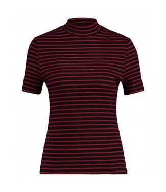 T-shirt mono stripe rood 1702040224