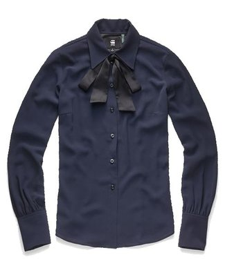 G-Star Core slim bow blouse donkerblauw D11299-A787-6067