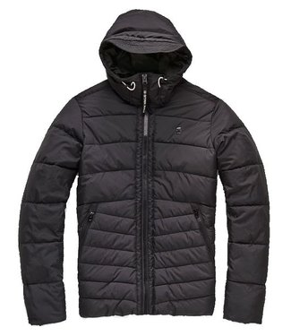G-Star Motac quilted hooded jacket zwart D10321-A569-6484