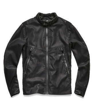 G-Star Motac decontructed biker jacket zwart D10283-5335-6484