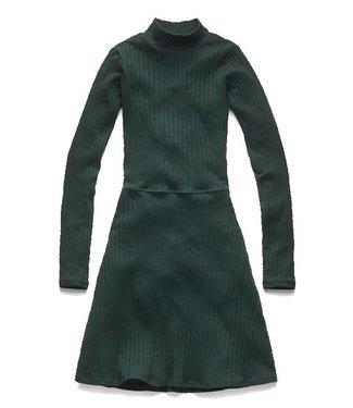 G-Star Xinva slim flare funnel dress donkergroen D10377-9196-4287