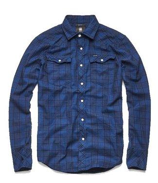 G-Star 3301 slim shirt donkerblauw D10255-A417-9981