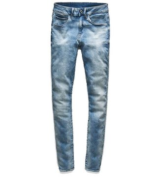 G-Star 3301 Deconstructed mid waist skinny jeans blauw D05700-9587-9344
