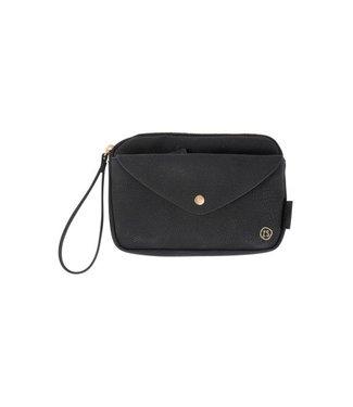 Zusss Handige portemonnee clutch zwart 02HP18v