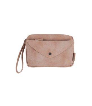 Zusss Handige portemonnee clutch poederroze 02HP18v