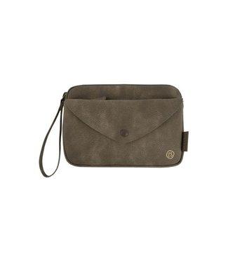 Zusss Handige portemonnee clutch donkergroen 02HP18v