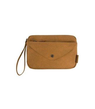 Zusss Handige portemonnee clutch camel 02HP18v