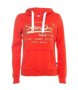 Superdry Shirt shop infill emboss rood G20957YR