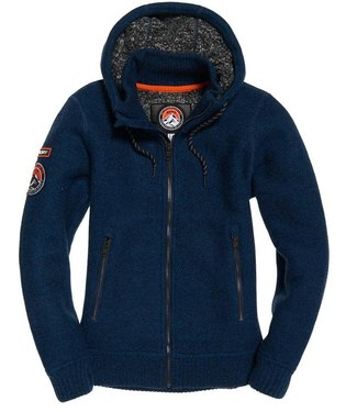 Superdry Expedition ziphood donkerblauw M20000MR