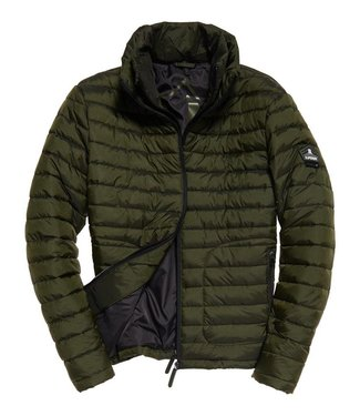 Superdry Double zip fuji groen M50002LR
