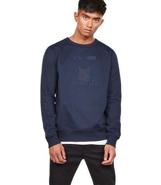 G-Star Graphic 13 shield core sweat blauw D11823-a612-6067