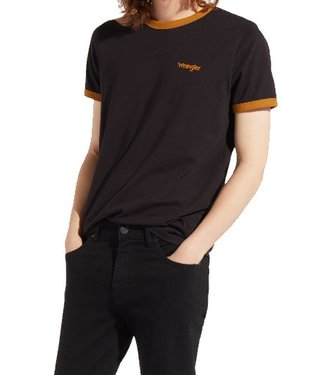 Wrangler Short sleeve ringer tee zwart W7B99FK01