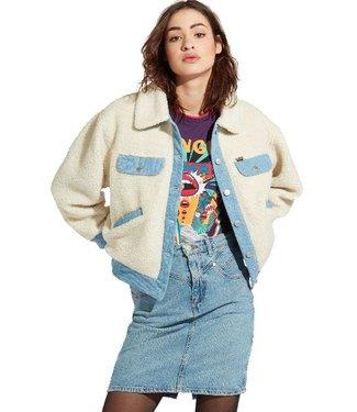 Wrangler Sherpa jacket off white w4129vvio