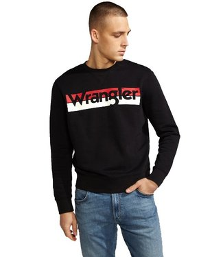 Wrangler Logo crew zwart W6532HY01