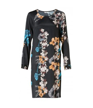 Yaya DRESS BIG FLORAL BLACK DESSIN 180124-824