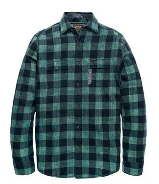 PME Legend Long Sleeve Shirt Denim Check Quinc: Silver Pine PSI188222