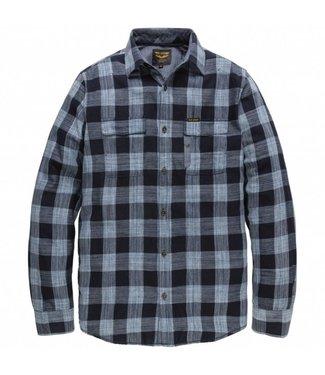PME Legend Long Sleeve Shirt Denim Check Quinc: Salute PSI188222
