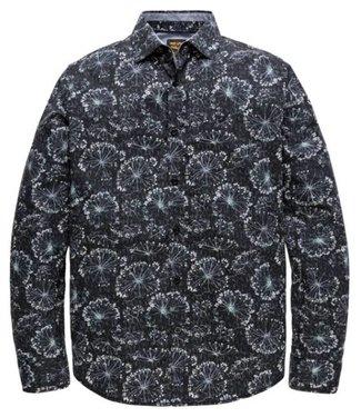 PME Legend Long Sleeve Shirt Poplin Print Vipe: Dark Sapphire PSI188203