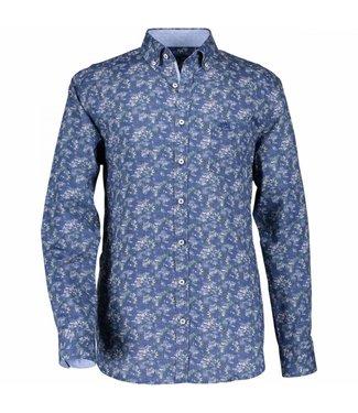 State of Art Shirt Printed Poplin kobalt 214-28812-5733