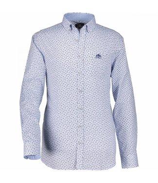 State of Art Shirt Printed Poplin mintblauw 214-28805-5284