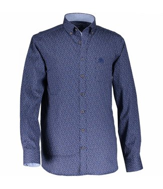 State of Art Shirt Printed Poplin kobalt 214-28807-5784