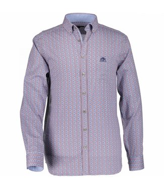State of Art Shirt Printed Poplin oud roze 214-28806-4211