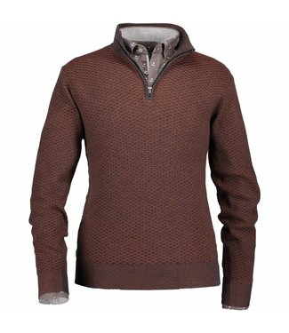 State of Art Pullover Sportzip Pl donkerantraciet 131-28802-9884