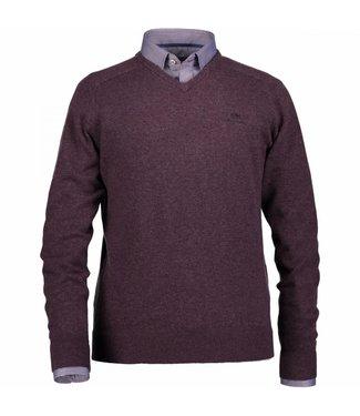 State of Art Pullover V-Neck aubergine 121-28305-6900