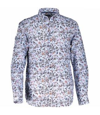 State of Art Shirt Printed Poplin aubergine 214-28339-6911