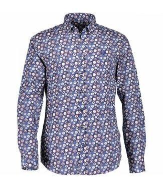 State of Art Shirt Printed Poplin aubergine 214-28194-6957