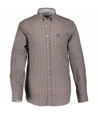 State of Art Shirt Printed Poplin cognac 214-28174-8498