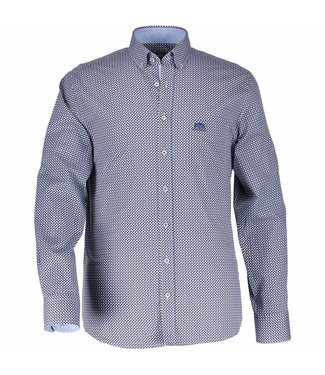 State of Art Shirt Printed Poplin sepia/kobalt 214-28151-8657