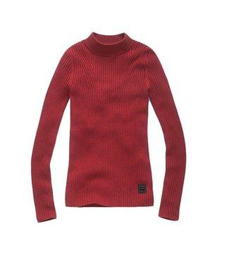 G-Star Lynn mock turtle knit rood D11939-8375-9819