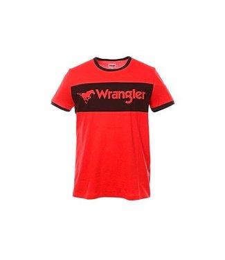 Wrangler Logo tee rood w7b68fq1p