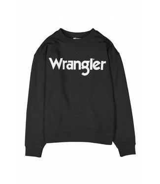 Wrangler Logo sweat zwart w6072hqv6
