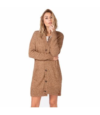 Moscow Cardigan bruin/brons FW18-57.03