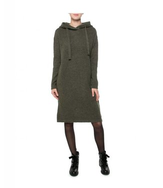 Moscow Hooded dress donkergroen FW18-56.02