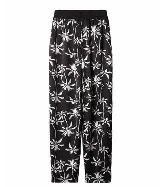 10Days Wide leg pants palm zwart 20-013-9101