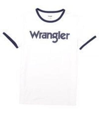 Wrangler Kabel tee wit W7C38D312