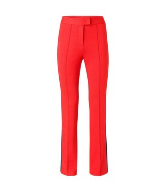 Yaya JERSEY FLARED TROUSERS WITH SI FIRY RED 120941-912