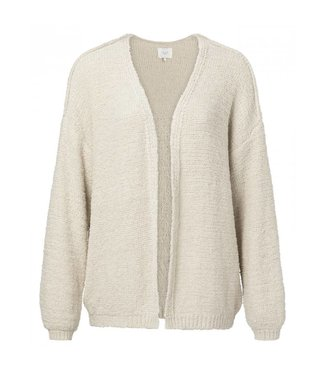 Yaya FURRY KNIT CARDIGAN BONE WHITE 101025-912