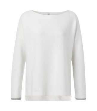 Yaya BASIC KNIT SWEATER WOOL WHITE 100030-912