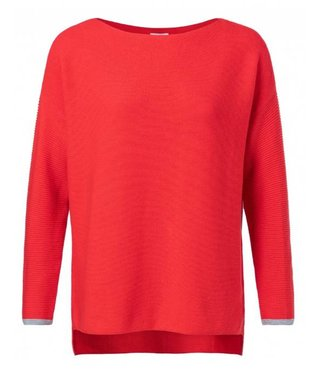 Yaya BASIC KNIT SWEATER FADED RED 100030-912