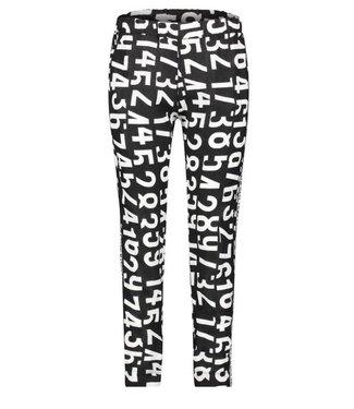 PENN&INK N.Y Trouser AOP zwart s19f511