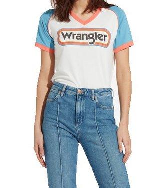 Wrangler Raglan tee off white W7389GZIO