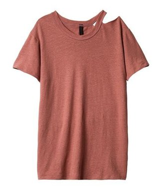 10Days Destroyed neck tee roze 20-752-9101
