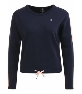 G-Star Nostelle cropped sw wmn l/s donkerblauw D13351-9298-A385