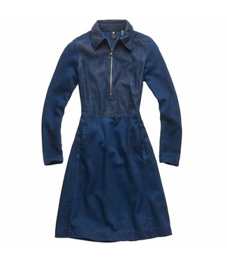 G-Star Core slim flare dress donkerblauw D11516-A785-082