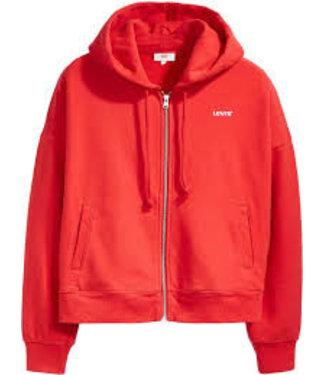 Levi's Logo trim hoodie rood 69642-0000
