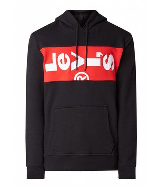 Levi's L tab hoodie zwart 69872-0001